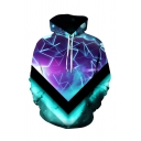 Fashion 3D Calaxy Pattern Long Sleeve Unisex Casual Loose Pullover Hoodie
