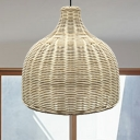 Handcrafted Pendant Lighting Chinese Bamboo 1 Bulb 10