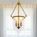 Urn Chandelier Lamp Modernist Clear Glass 14