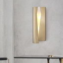 LED Dining Room Wall Lamp Modernist Gold Sconce Light Fixture with Wrapped Metal Shade