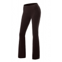 Yoga Women's Plain Mid Rise Stretchy Full Length Flared Pants