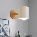Metal Tubular Sconce Modernism 1 Head White/Green Wall Mounted Light Fixture for Bedroom