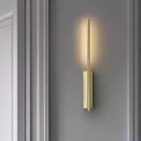 Gold Linear Sconce Light Modernist 1 Head Metal Wall Mounted Lighting for Bedroom