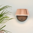 Contemporary Wide Flare Wall Lighting Metal LED Sconce Light Fixture in Copper with Rotating Node