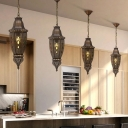 Bronze Urn Pendant Lighting Traditionary Metal 1 Bulb Dining Room Hanging Light Fixture