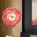 Brass Rose Sconce Light Fixture Industrial Metal 1 Bulb Restaurant LED Wall Mount Lamp, 12.5