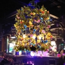 Birdcage Metal Chandelier Light Industrial 3 Bulbs Restaurant LED Plant Hanging Lamp in Green