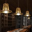 Bamboo Laser Cut Pendant Lighting Japanese 1 Head Hanging Ceiling Light in Wood for Bedroom