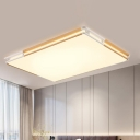Metal Square/Rectangle Ultra Thin Flushmount Contemporary LED Flush Light in Gold for Sitting Room