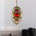 Incense Burner Restaurant Hanging Lighting Traditional Metal3 Bulbs Brass Chandelier Lamp