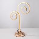 Acrylic Curvy Task Lighting Modern LED Gold Night Table Lamp in White/Warm Light for Bedroom