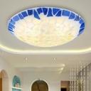 Baroque Bowl Flush Light 12