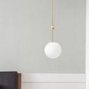Ball Ceiling Light Minimalism Milky Glass 39