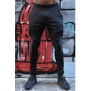 New Stylish Letter SLGW Printed Skinny Fit Black Jogging Pants for Men