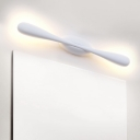 Matchstick Vanity Lighting Modernism Metal LED Wall Mounted Light Fixture in White