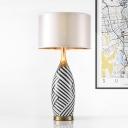 Jar Desk Light Modern Ceramic 1 Bulb 14