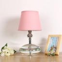Crystal Block Pink Table Light Cone Single Bulb Simple Nightstand Lamp for Bedroom