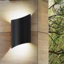 Black Half-Cylinder Sconce Modernism LED Metal Wall Mount Light Fixture in White/Warm Light