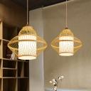 Jar Pendant Lighting Chinese Bamboo 14