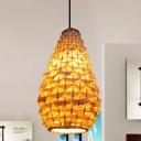 Hand-Woven Hanging Light Chinese Bamboo 8
