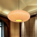 Lantern Wood Chandelier Lighting Japanese 3 Heads Beige Ceiling Suspension Lamp for Bedroom