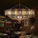 Art Deco Laser Cut Pendant Chandelier Metal 11 Bulbs Hanging Ceiling Light in Brass