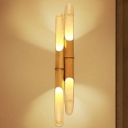 Cylinder Resin Wall Lighting Chinese 1 Head Beige Sconce Light Fixture for Bedside
