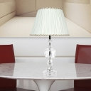 1 Head Living Room Table Lamp Modernist White Desk Light with Conical Fabric Shade