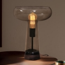 Cup Task Lighting Modernist Smoke Gray Glass 1 Head Living Room Night Table Lamp