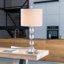 1 Bulb Spherical Task Lighting Modernism Clear Crystal Small Desk Lamp in White