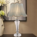 Contemporary Tapered Reading Light Beveled Crystal 1 Head Night Table Lamp in Blue