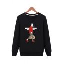 Cool Street Boys' Long Sleeve Round Neck Comic Graphic Fitted Pullover Sweatshirt