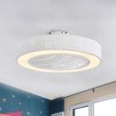 Modernist Snow/Rhombus Ceiling Fan Lamp LED 21.5
