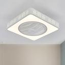 Acrylic Linear/Tree Fan Light Modernism 21.5
