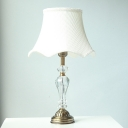 Contemporary Flared Task Lighting Fabric 1 Head Reading Lamp in Gold for Bedroom
