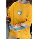Harajuku Girls Long Sleeve Drawstring Logo Printed Loose Hoodie with Pocket
