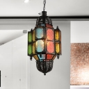 Lantern Restaurant Ceiling Lamp Arabian Metal 1 Head Black Hanging Pendant Light