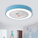 Acrylic Circle Semi Flush Mount Lighting Kids Living Room 19.5