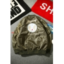 Cool Fashion Long Sleeve Zip Up Letter REGROUP Logo Graphic Embroidery Oversize Jacket for Guys