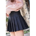 Pretty Ladies High Rise Checker Printed Mini Pleated A-Line Skirt