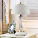 Domed Shade Desk Light Modernism White Glass 1 Head Living Room Night Table Lamp