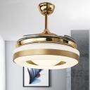 Contemporary Round Pendant Fan Light 42