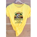 Cool Fancy Girls Roll-Up Sleeve Round Neck Letter DON'T MESS WITH MAMASAURS Dinosaur Graphic Relaxed Fitted Tee