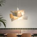 Irregular Pendant Light Fixture Modern Acrylic White/Red LED Hanging Ceiling Lamp for Dining Room