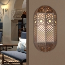 Arabian Oval Sconce Wall Lighting 1 Bulb Metal Wall Mounted Light Fixture in Brass