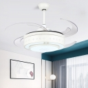8 Blades Modernist Circle Pendant Fan Lamp 48