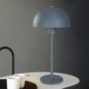 Hemisphere Task Lighting Modernist Metal 1 Head Blue Night Table Lamp for Bedroom