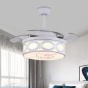 4-Blade Acrylic Circle Fan Lamp Nordic Kids 36