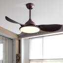 3-Blade Traditional Round Pendant Fan Lamp 42