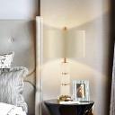 1 Bulb Living Room Task Light Modern White Small Desk Lamp with Drum Fabric Shade